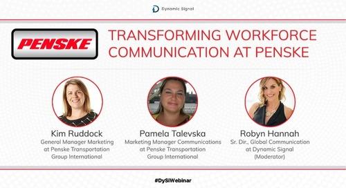 Transforming Workforce Communication at Penske