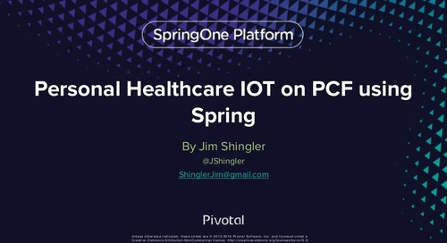 Personal Healthcare IOT on Pivotal Cloud Foundry Using Spring