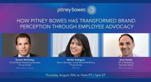 How Pitney Bowes Has Transformed Brand Perception Through Employee Advocacy