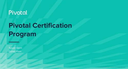 How Pivotal Training and Certification Can Make a Difference for You