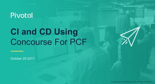 Continuous Delivery: Fly the Friendly CI in Pivotal Cloud Foundry with Concourse