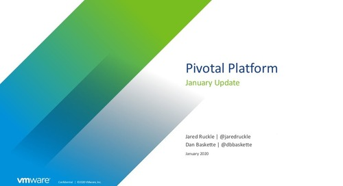 Pivotal Platform - December Release A First Look