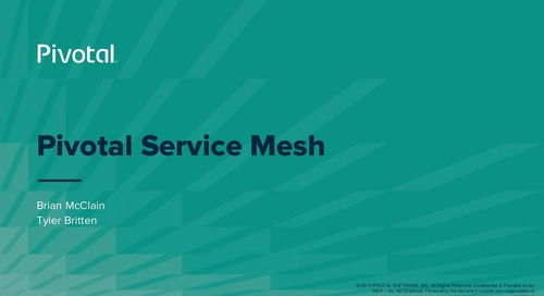 Making Microservices Smarter with Istio, Envoy and Pivotal Ingress Router