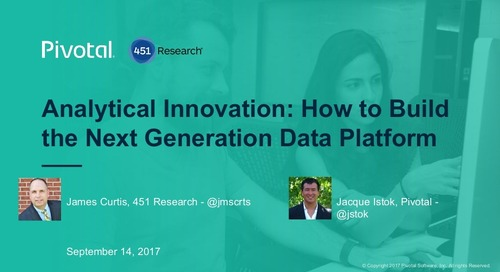 Analytical Innovation: How to Build the Next Generation Data Platform