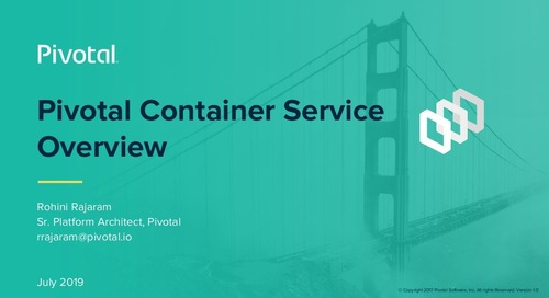 Pivotal Container Service Overview