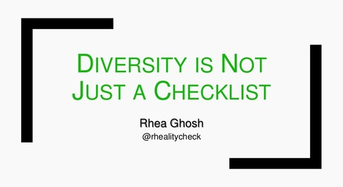 Diversity is Not Just a Checklist