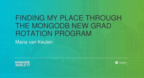Finding My Place through the MongoDB New Grad Rotation Program