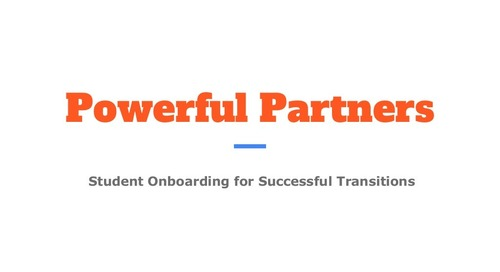 Intentional Student Onboarding for Successful Transitions
