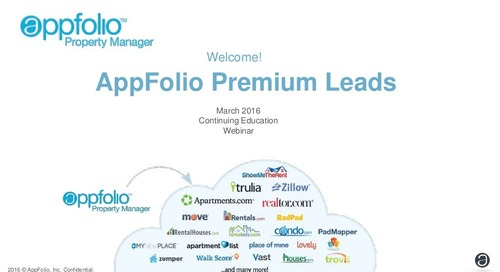 Maximizing AppFolio Premium Leads/Marketing Features