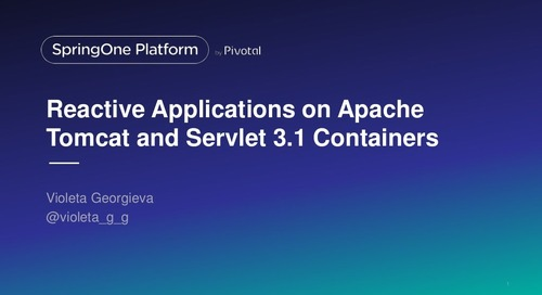 Reactive Applications on Apache Tomcat and Servlet 3.1 containers