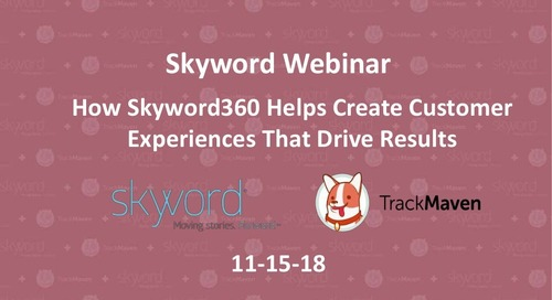 Skyword360 Product Webinar — November 15, 2018