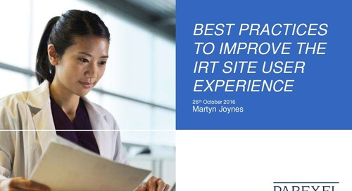 Best Practices to Improve the IRT Site User Experience
