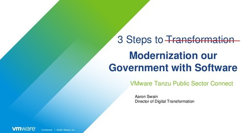 Aaron Swain at VMware Tanzu Public Sector Connect 2021