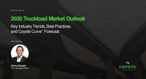 2020 U.S. Truckload Market Forecast: Q1 Coyote Curve Update