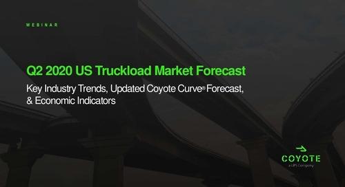 Q2 2020 Coyote Curve Truckload Market Forecast
