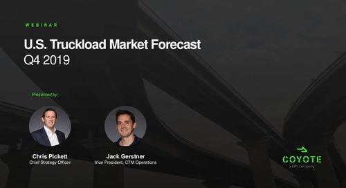 SlideShare: Q4 2019 U.S. Truckload Market Forecast