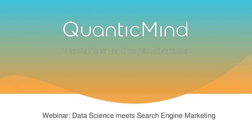[Slide Deck] Data Science in Search Engine Marketing - Webinar Deck