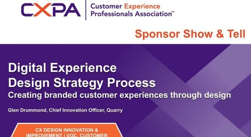 Digital Experience Design Strategy at the CXPA 2015
