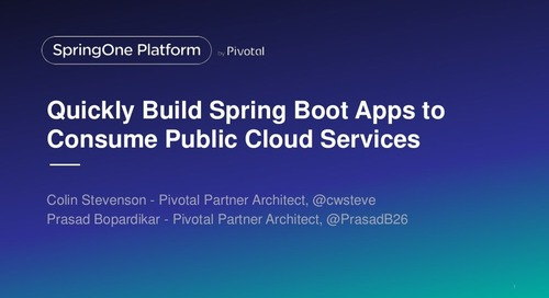 Quickly Build Spring Boot Applications to Consume Public Cloud Services