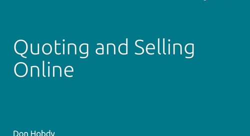 Quoting and Selling Insurance Online - Don Hobdy Jr., ITC