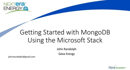 Getting Started with MongoDB Using the Microsoft Stack
