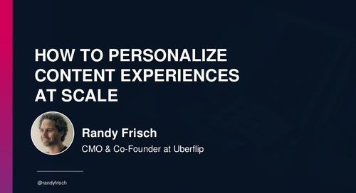 How to Personalize Content Experiences at Scale