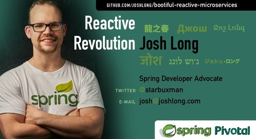 The Reactive Revolution - Josh Long