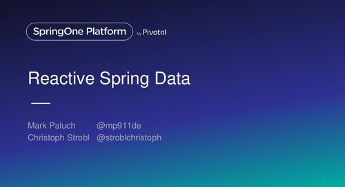 Reactive Data Access with Spring Data