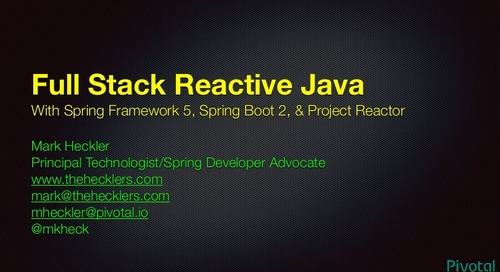 Full Stack Reactive Java - SpringOne Tour Dallas