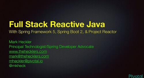 SpringOne Tour Denver - Reactive Spring with Spring Boot 2.0