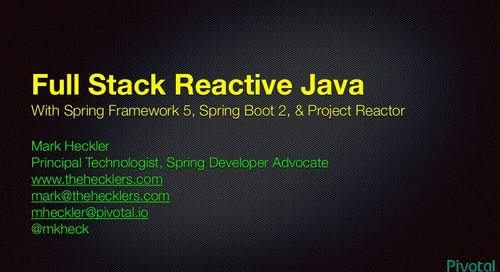 Reactive Spring with Spring Boot 2.0 - SpringOne Tour NYC