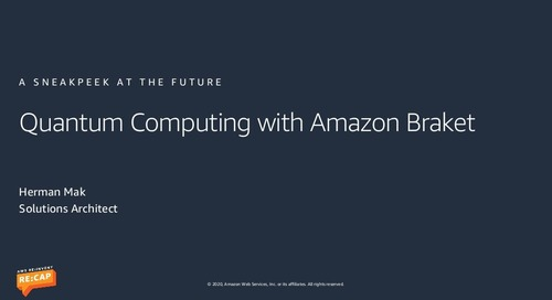 Quantum Computing with Amazon Braket