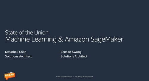 Machine Learning & Amazon SageMaker