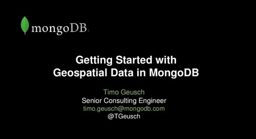 Getting Started with Geospatial Data in MongoDB