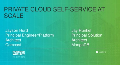 Private Cloud Self-Service at Scale