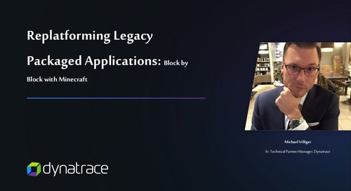 Replatforming Legacy Packaged Applications: Block-by-Block with Minecraft