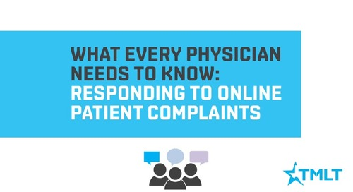 Responding to Online Patient Complaints