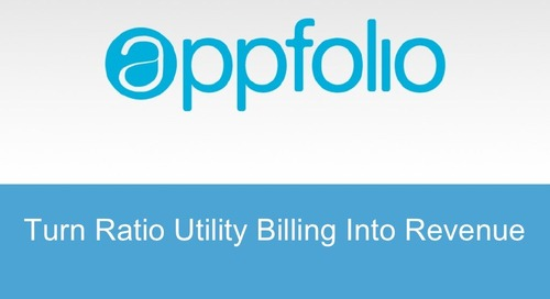 """Turn Ratio Utility Billing Into Revenue"""