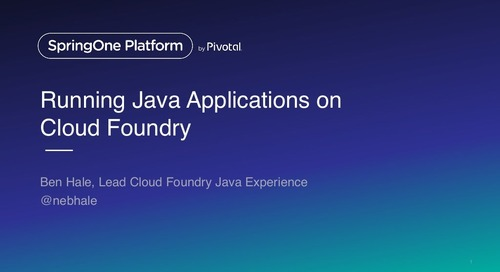 Running Java Applications on Cloud Foundry