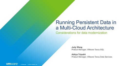 Running Persistent Data in a Multi-Cloud Architecture