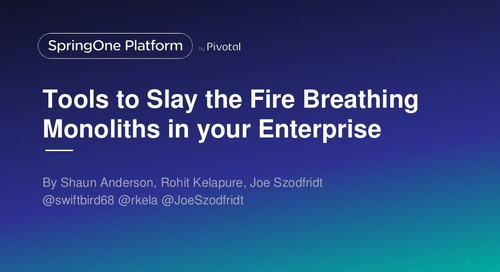 Tools to Slay the Fire Breathing Monoliths in Your Enterprise