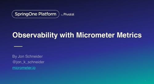 Introducing Micrometer Application Metrics