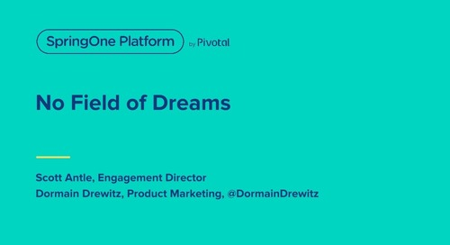 No Field of Dreams: Getting Developers to Come to Your Cloud Platform