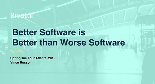 Better Software is  Better than Worse Software - Vince Russo