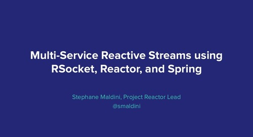 Distributed Reactive Services with Reactor & Spring - Stéphane Maldini