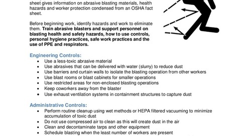Safety Tip: Protect Workers from Abrasive Blasting Hazards