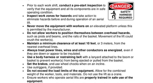 Safety Tip: Using Aerial Lifts