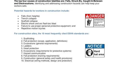 Safety Tip: Construction Hazards