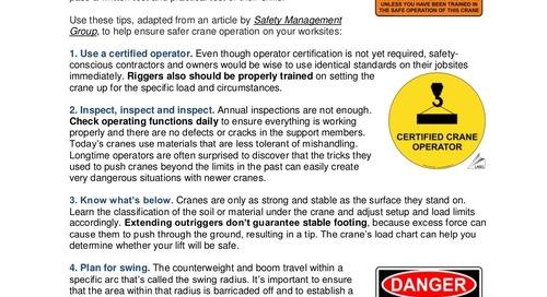 Safety Tip: 10 Steps to Safer Crane Operation