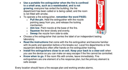 Safety Tip: Using Portable Fire Extinguishers